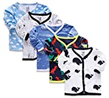 Material : 100% Cotton -Soft, Smooth and Comfortable for kids. Breathable fabric which allows air circulation. Color : Multi Color Combo of 5 Jhabla Tshirt Product features: Smooth breathable fabric,Front snap button for easy wearbility The Product c...