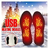 CAPCRD 1Pair Electric Heated Shoe Insoles Feet Heater Warm Socks Foot Winter Pads USB Charging Insoles Black Adapter Power Supply Heating (Size : 40 to 44)