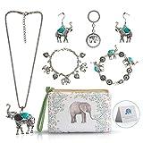 Elephant Jewelry Sets for Women Girls,Vintage...