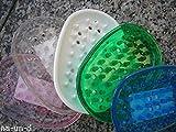 Seifenablage oval Seifenablage Gummi Seifenschale div.Farben (grün)
