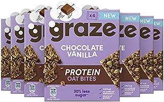 Graze Chocolate Vanilla Protein Oat Bites Havermoutrepen - 7 x 4 repen (120 g)