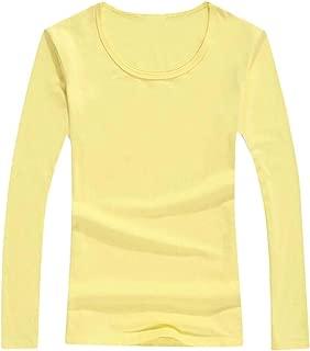 Macondoo Women Basic Raglan Sleeve Tee Solid Top T-Shirts
