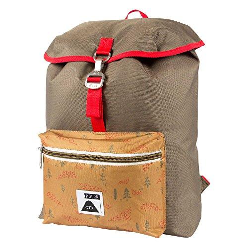 POLER Rucksack Bag Field Pack, Burnt Olive, 50 x 40 x 6 cm, 14 Liter