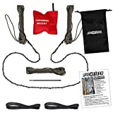 The Arborist Kit by PockeTech: 48 Inch Long High Limb Hand Chain Saw - Blades on Both Sides so it Doesn't Matter How It Lands - Upgraded with 50% More Blades Cutting in BOTH Directions & on BOTH Sides