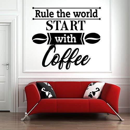 Tianpengyuanshuai Gute Kaffee wandtattoo Tasse Tee küche Wort Vinyl Aufkleber Aufkleber raumgestaltung Schlafzimmer Dekoration 69x63 cm