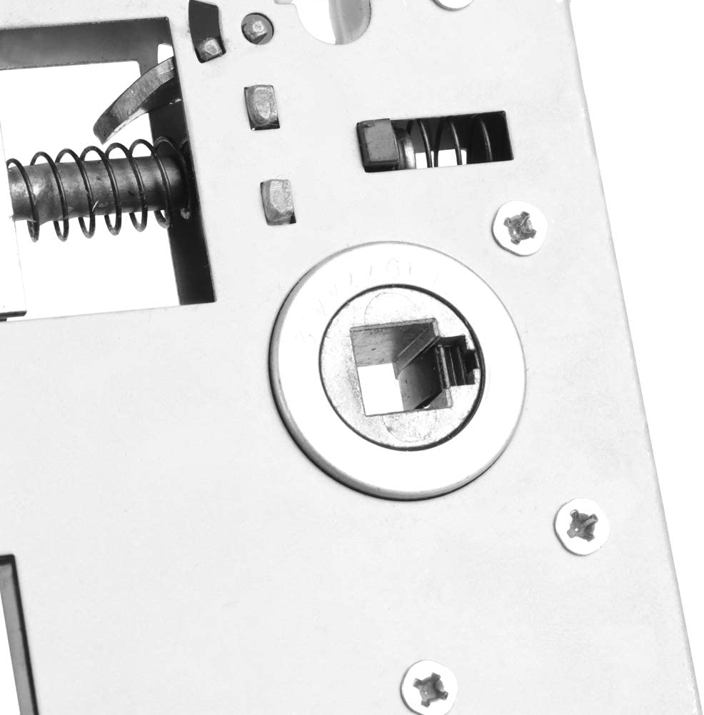 Set de manija de Puerta Especial, 35~50mm / 1.38~1.97in 17 x 12.7 x 6.7cm 12.8 x 5,2cm Black Block Cilindro Guantes de periodal Hecho de aleación de Zinc y Cobre (Negro)