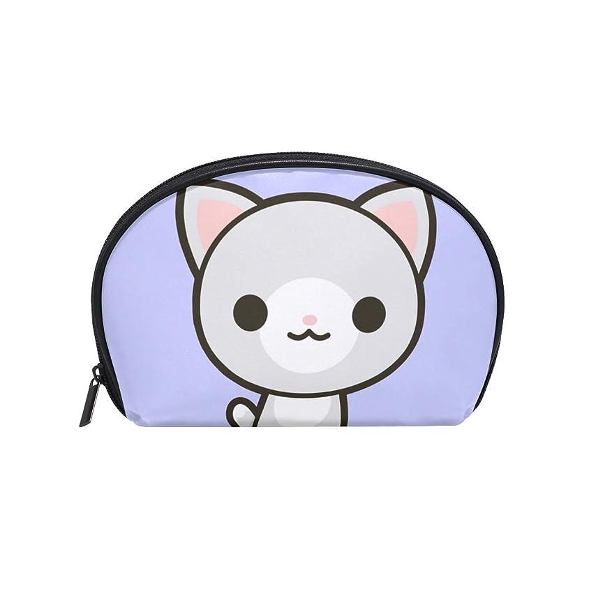 デンマークディスパッチメッセンジャー半月型 可愛い猫 化粧ポーチ コスメポーチ コスメバッグ メイクポーチ 大容量 旅行 小物入れ