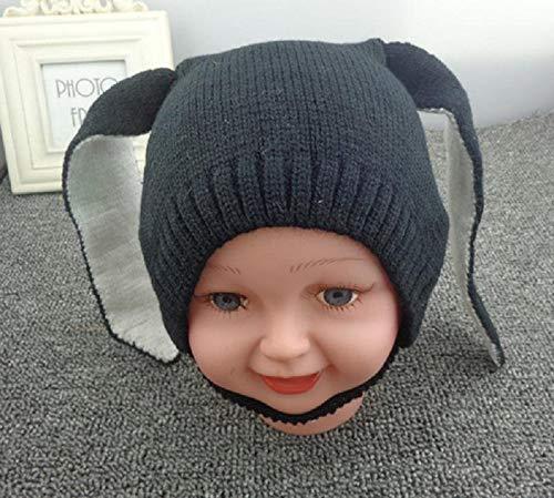 weichuang Gorro de lana con orejas de conejo para bebé, sombreros suaves y cálidos, para niños pequeños, de punto de lana, gorro unisex para bebés de 0 a 2 años (color, talla: talla única)