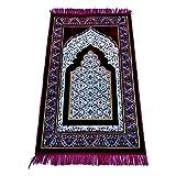 TRADITIONAL Alfombra de oración estilo turco/otomano con patrón oriental, 110 x 66 cm, color rojo árabe
