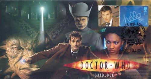 Doctor Who Cubierta para Sello Gridlock firmada por Anna Hope