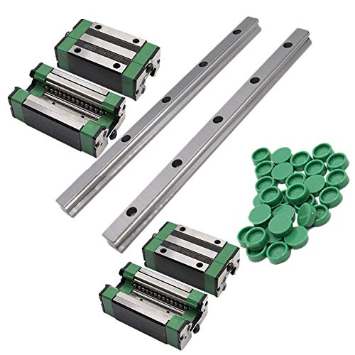 2 HGR25 Rail Square Linear Guide Rail 1000mm+4pc Slide Block Carriages HGH20CA HGW20CC hgh25ca hgw25 CNC Router Engraving