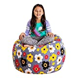 Posh Stuffable Kids Stuffed Animal Storage Bean Bag Chair Cover - Childrens Toy Organizer, Large 38'...