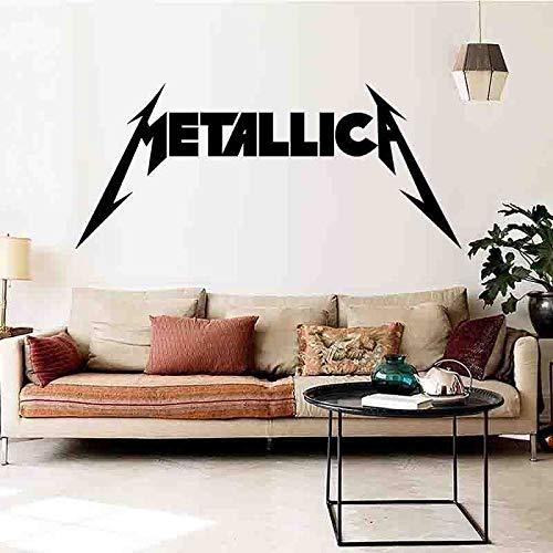 JXFM Etiqueta de la Pared Metallica Dormitorio Habitación Etiqueta Mu