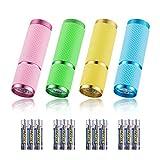 4 Stücke Mini LED Taschenlampe