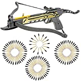 KingsArchery Crossbow Self-Cocking 80 LBS with Adjustable Sights and a Total of 123 Aluminim Arrow Bolt Set Warranty