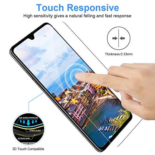 CRXOOX [3 Stück] Panzerglas Schutzfolie für Huawei Mate 20, [Anti-Kratzer/Anti-Öl] [Einfache Installation] [Blasenfrei] [3D Touch Kompatibel/9H Härte] - für Huawei Mate 20 - Transparent - 5