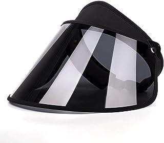 Sombrero para el Sol Verano Sombrero para el Sol Damas Protección Solar UV Exterior al Aire Libre Montar al Aire Libre A Prueba de Viento ZHAOSHUNLI (Color : Black)