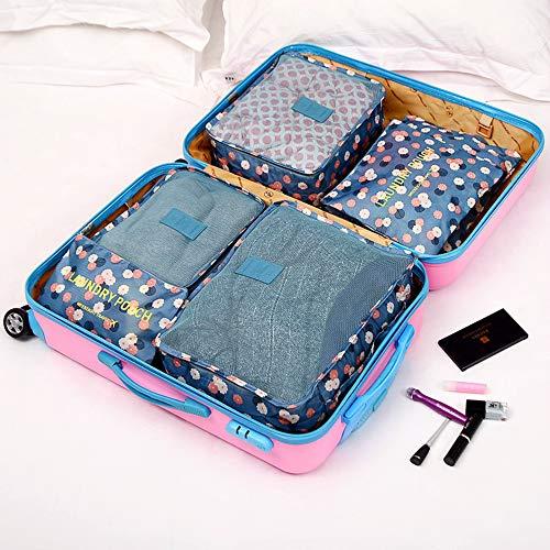 YOUYUANF Almacenamiento Travel Storage Bag 7-Piece Luggage Bag Group Tourism Clothing Storage Finishing Bag Flower Cloth Series Storage Six-Piece Set