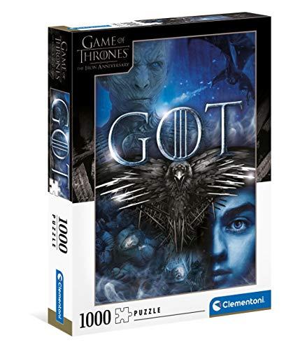 Clementoni Game of Thrones-Puzzle für Erwachsene, 1000 Teile, Made in Italy, Mehrfarbig, 39589