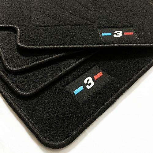 Zesfor Alfombrillas para BMW Serie 3 E46 Restyling Acabado M (2 Puertas 2003-2007)