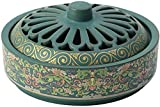 Qohg Holder Incenso Bruciatore di incenso in ceramica Retro Incenso Vassoio interni Vassoio Tea Cerimonia Aromaterapia Decorazione aromaterapia