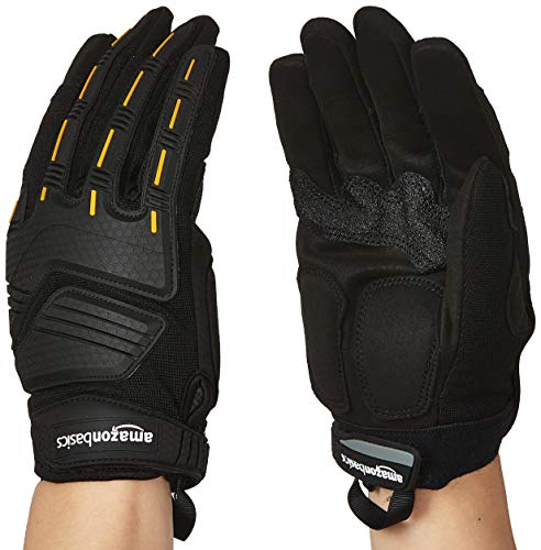 AmazonBasics Premium Impact Gloves - Black, XL