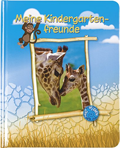 Brunnen Kindergarten Freundebuch Fans of Earth Giraffe Elefant Affe
