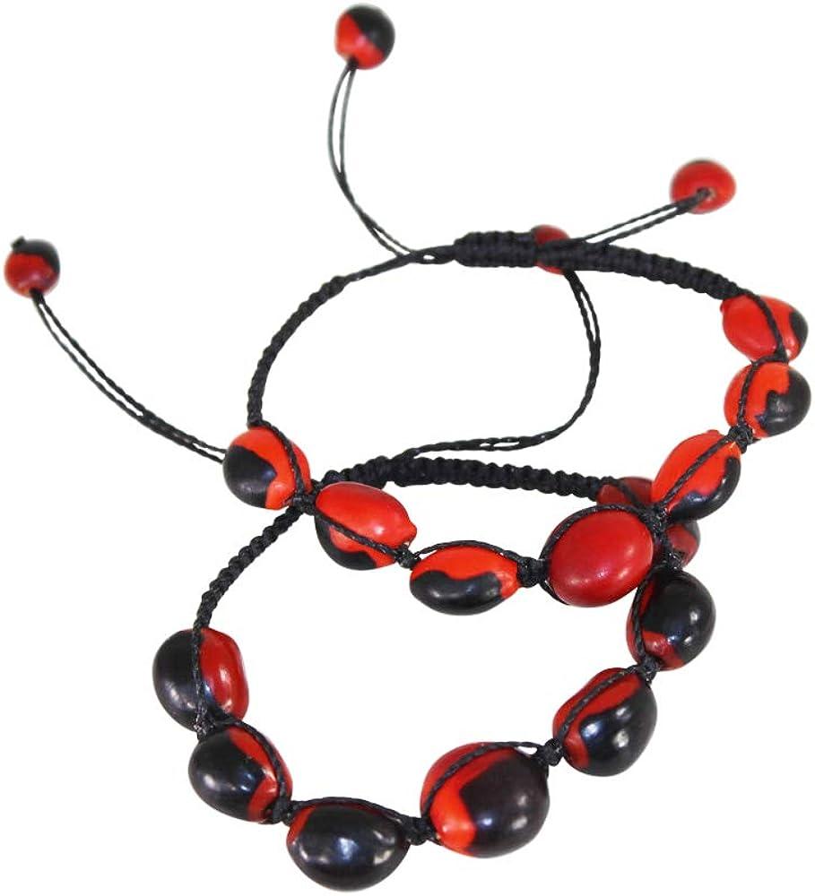 Adjustable Japan's Max 63% OFF largest assortment Macrame Ethnic Unisex Good Luck w Bracelet Meaningful