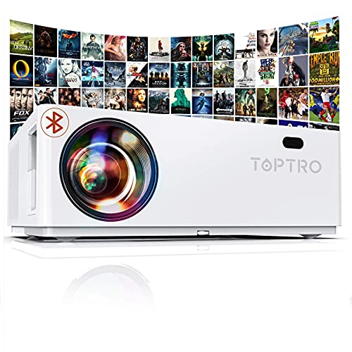 Vidéoprojecteur Bluetooth 7800 LM, TOPTRO Projecteur Full...