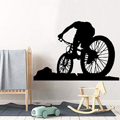 JXMK stijl met de fiets zelfklevend vinyl behang woonkamer decoratie kinderkamer decoratieve sticker wandfoto muursticker 57 cm x 82 cm