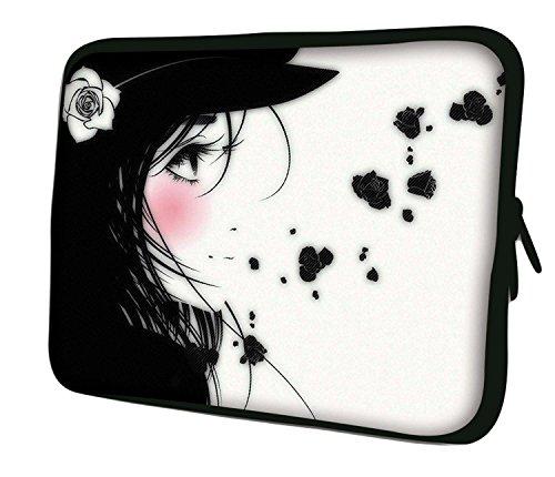 Luxburg 15' Custodia Morbida per PC Portatili Laptop Notebook ebook Reader e Tablet - Ragazza Manga
