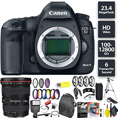 Great Features Of Canon EOS 5D Mark III DSLR Camera (Body) + Canon 17-40mm Lens Wide Angle Combo