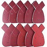 SIQUK 100 Piezas Hojas de lija detalles de mouse 2 puntas adicionales gancho y...