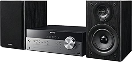 Sony Micro Hi-fi Shelf System with Single Disc Cd Player, Bluetooth, USB Input, 2-Way, Bass Reflex Speakers, AM/FM Radio With 30 Station Presets (20 Fm / 10 Am), Clock with Separate Sleep and Play Timers, Selectable Bass Boost and Adjustable Bass/treble, Rear Auxiliary Inputs, Remote Control, Black Finish