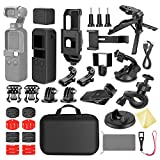 Neewer 33-in-1 Expansion Kit Compatible with DJI OSMO Pocket Action Camera Mounts, Accessory Bundle Kit with Carry Case/Phone Holder/Charging Base/Tripod/Car Suction Cup/Bicycle Bracket and More