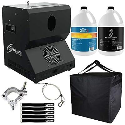 Chauvet DJ Hurricane Bubble Haze Machine with Bubble Fluid & Quick Dissipating Fog Fluid Package by Chauvet