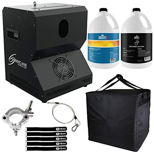 Chauvet DJ Hurricane Bubble Haze Machine with Bubble Fluid & Quick Dissipating Fog Fluid Package