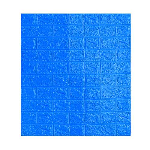LIOOBO Pegatinas de Pared de ladrillo 3D Papel Tapiz de pelar y Pegar en 3D para Paredes de TV sofá Fondo decoración de Pared (Azul Oscuro)