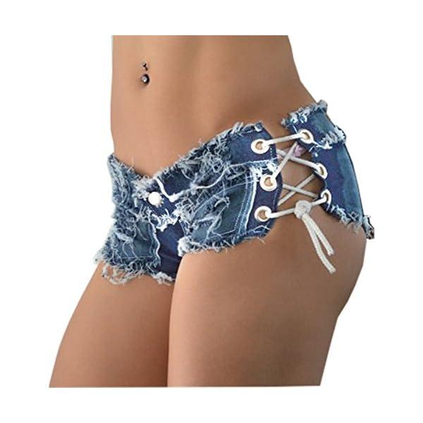 Women's Sexy Cut Off Low Waist Denim Jeans Shorts Mini Hot Pants 3
