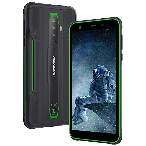 Blackview BV6300 Rugged Phone, Android 10 Outdoor Smartphone 4G Dual SIM IP68 Shockproof Waterproof Phone, 5.7'' MTkA25 Processore Octa-Core 3GB + 32GB, 4380mAh, 13MP Quad Rear HDR, NFC/OTG-Green