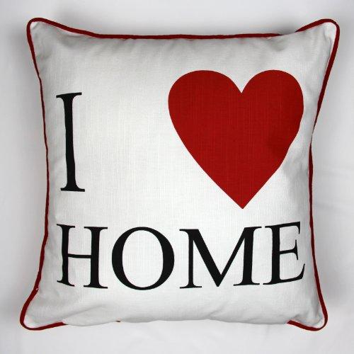 Lujo 100% cojines de algodón–Me encanta mi casa–por Adamlinens