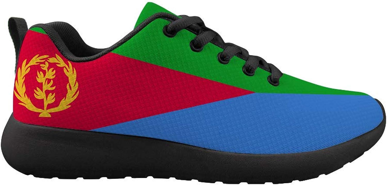 Owaheson Cushioning Sneaker Trail Running shoes Mens Womens Eritrea Flag