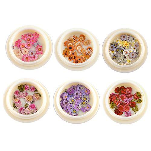 VIccoo Molde de Bricolaje, 6 Piezas Flor Pulpa de Madera Rellenos de Resina Horquilla Colgante decoración moldes de Resina Rellenos