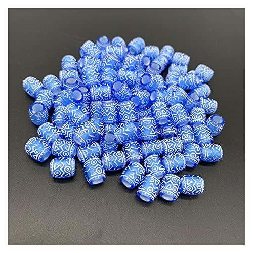 MURUI QZX1 50pcs 9x6mm DIY pulsera accesorios niños regalo artesanía Departamento 11 color forma redonda acrílico azúcar cuentas joyería resultados YC0416 (color: 02)