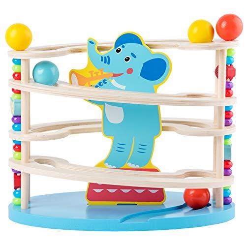 YzDnF Puzzle-Spiel Maze Racers Labyrinth Spielzeug Ball Visual Tracking Kinder Maze Palm Balance Ball Focus Training Pädagogisches Spielzeug Für Jungen und Mädchen (Color : Blue, Size : 26x30x18cm)