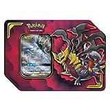 Pokemon TCG: Tag Team Giratina & Garchomp | 4 Booster Pack | 1 Metal Tag Team Gx Marker | 1 of 3 Foil Tag Team Pokémon-GX Tin