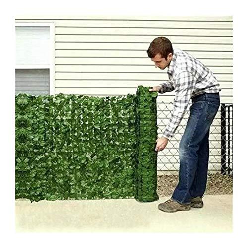Cerca De Hoja Artificial, Pantalla De Privacidad Panel, Hoja De Poliéster Resistencia Al Clima Flexible Curvo con Bridas para Cubrir Paredes De Jardín (Color : Green, Size : 1.5x10m)
