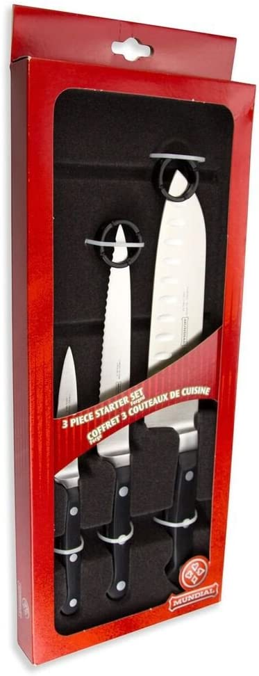 Mundial Houston Mall 5100 Series Nippon regular agency 3-Piece Knife Starter Hollow Edge with Set