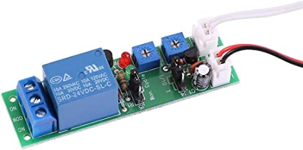 PBZYDU Cycle Timer Delay On/Off Switch, DC 5V 12V 24V Adjustable Relay Module(DC24V/0-30min)