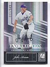 JAKE ARRIETA 2007 Donruss Elite Extra Edition #102 Autograph Rookie Card RC Numbered to only 949 Made! Chicago Cubs TCU Horned Frogs Baseball